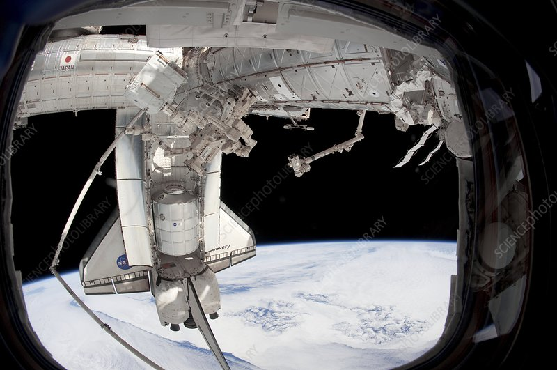 Discovery docked with the ISS, STS-133