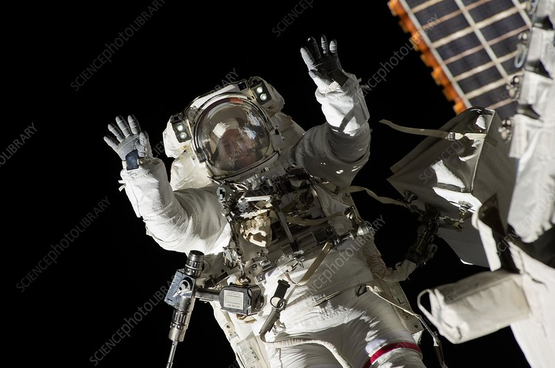 Mission STS-133 space walk
