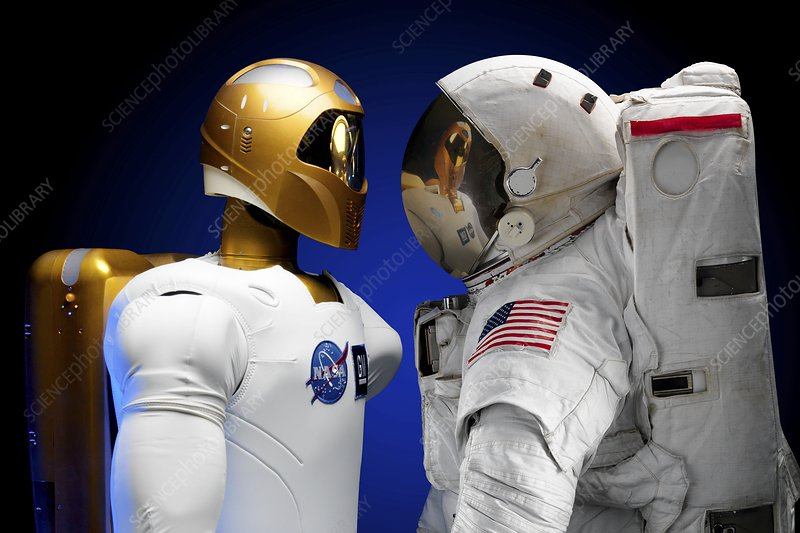 Robonaut 2 and astronaut