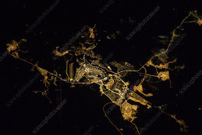 Brasilia at night from space, ISS image