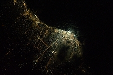 Tripoli at night from space, ISS image