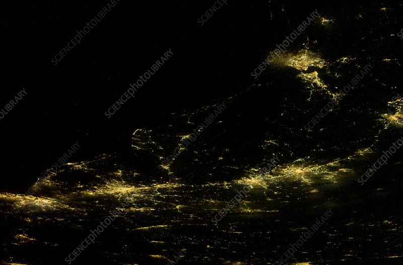 East coast USA at night from space