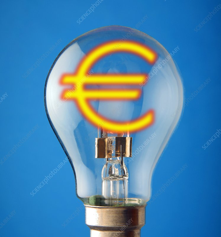 Energy costs, conceptual image