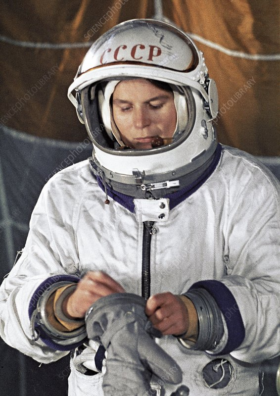 Valentina Tereshkova in training
