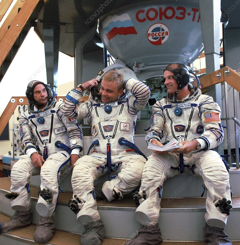 Crew of Soyuz TMA-16 in training