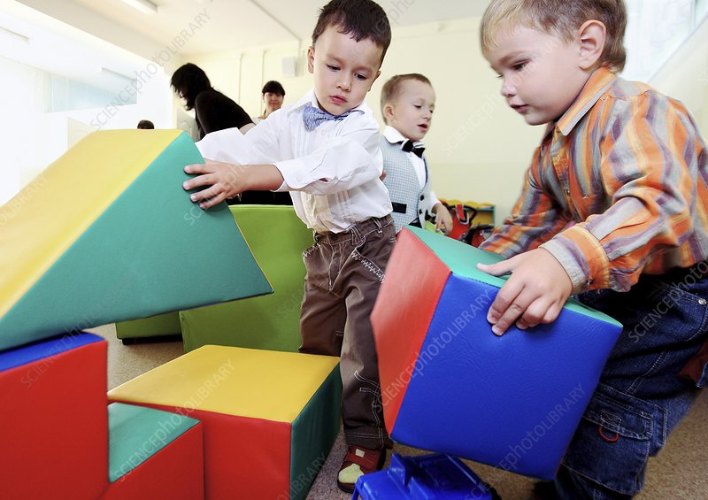 Children playing in a day-care centre