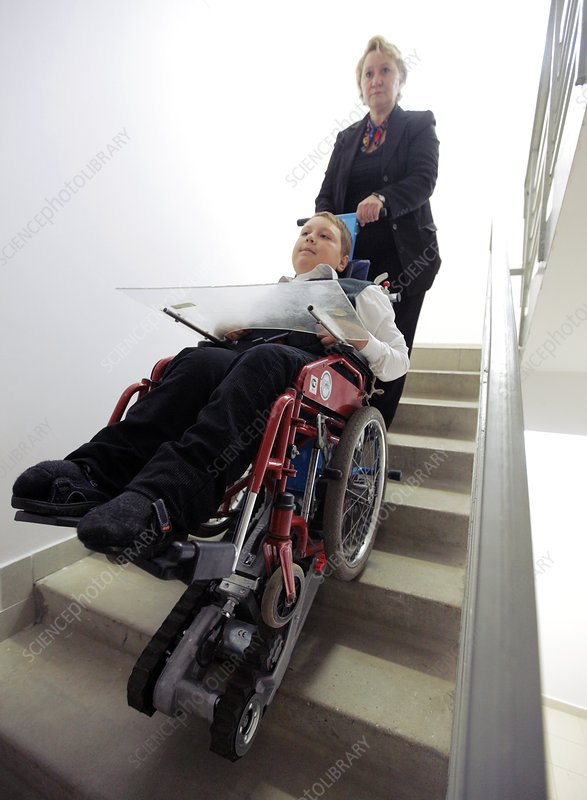Wheelchair on a staircase