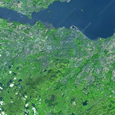 Edinburgh, Scotland, satellite image