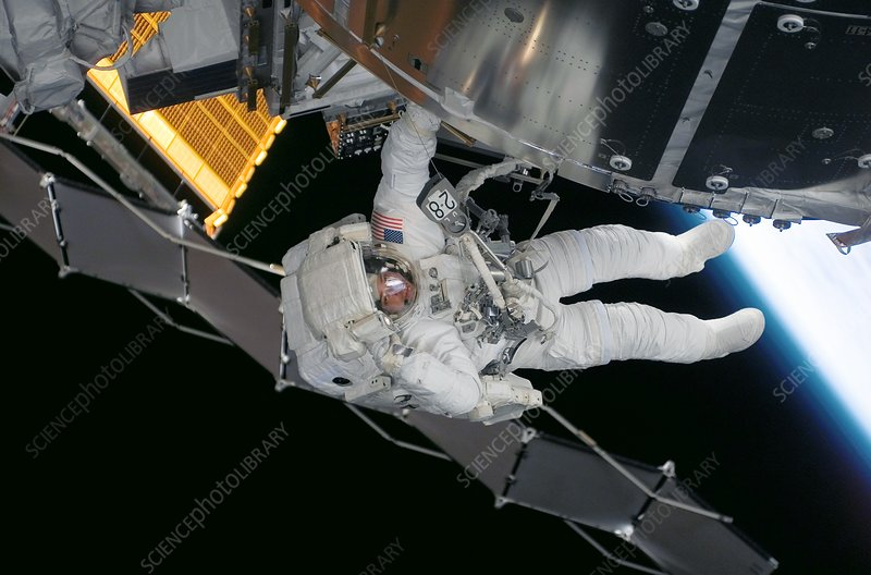 ISS space walk, 2008