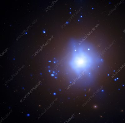 NGC 1399 elliptical galaxy, composite