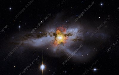 NGC 6240 colliding galaxies, composite