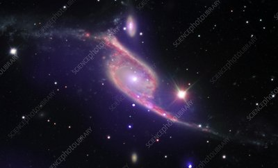 NGC 6872 colliding galaxies, composite