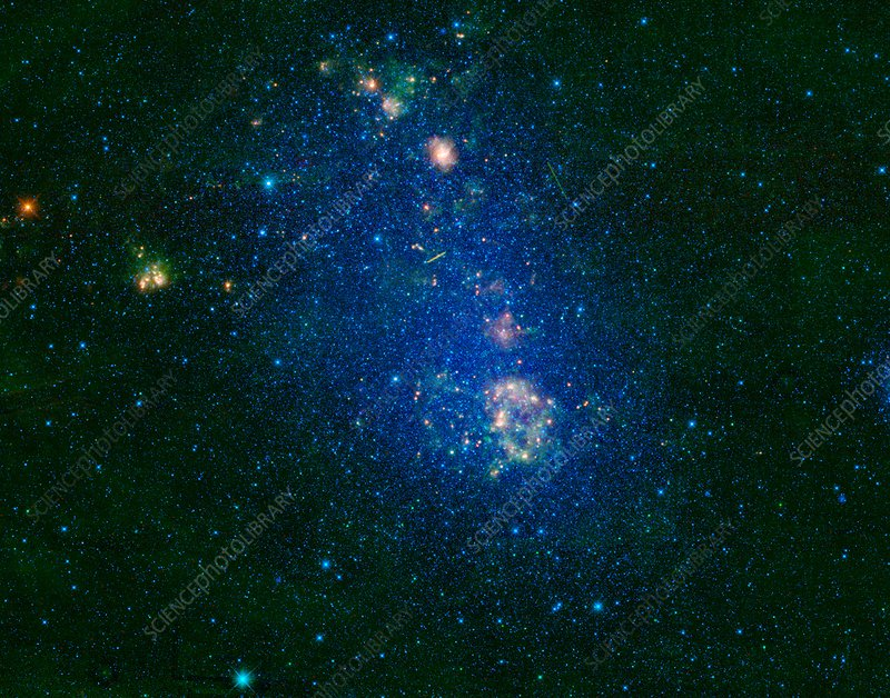 Small Magellanic Cloud, infrared image