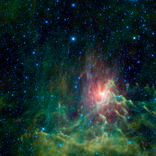 Flaming Star Nebula, infrared image