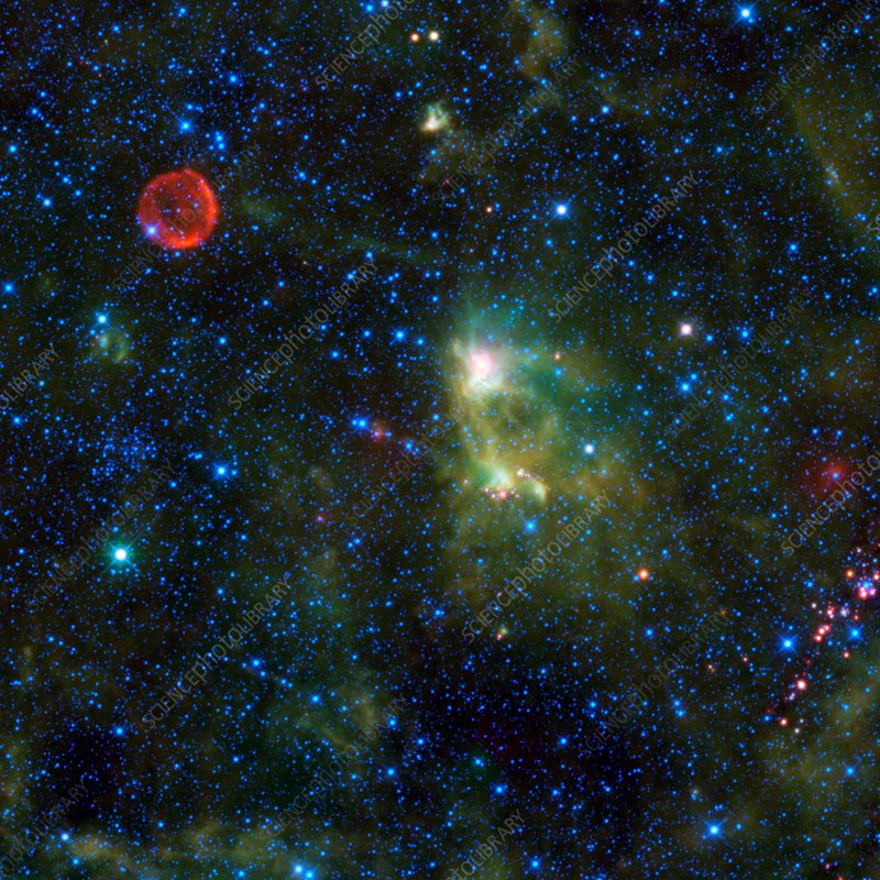 Supernova remnant and nebula, infrared