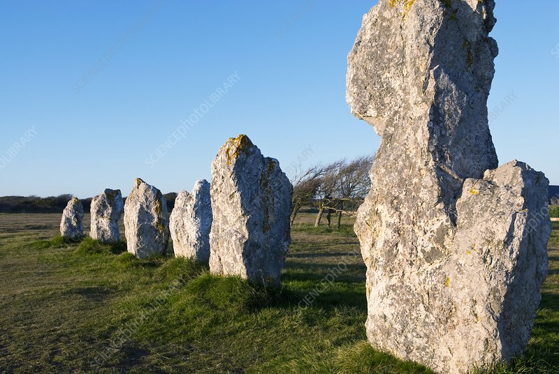 Standing stones, France