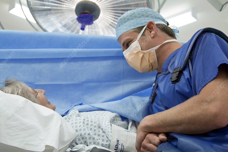 Anaesthetist and patient