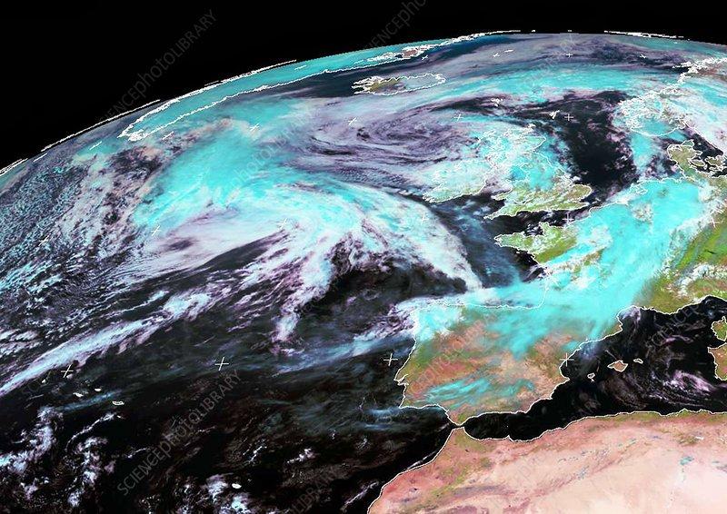 Extratropical storm Katia, 2011