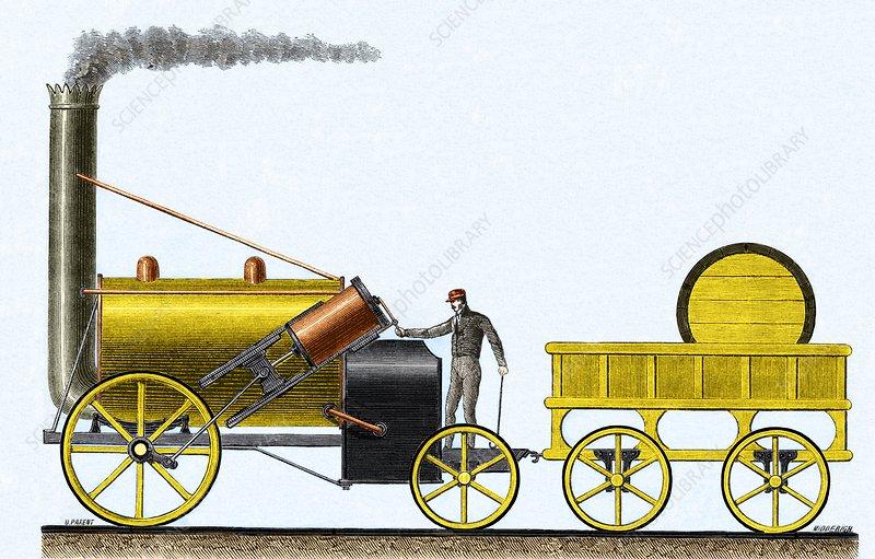 Stephenson's Rocket 1829 - Stock Image - C010/5847 - Science