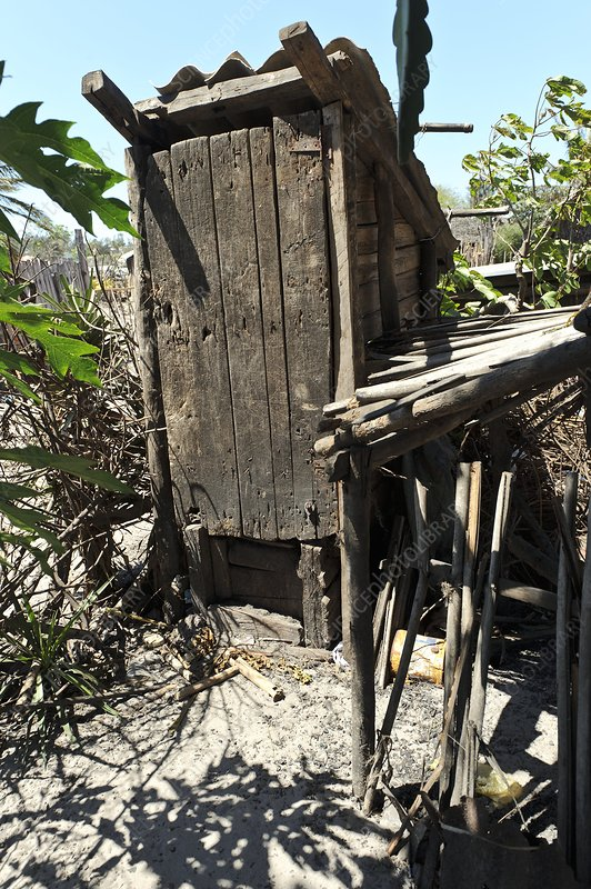 Outdoor toilet, Madagascar