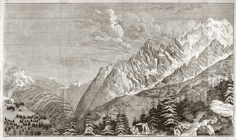 View across the Alps, 18th century