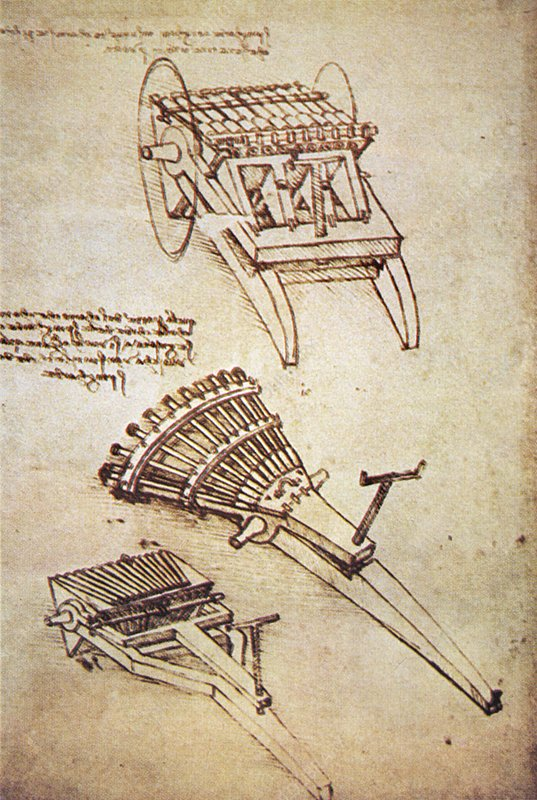 Leonardo's machine guns
