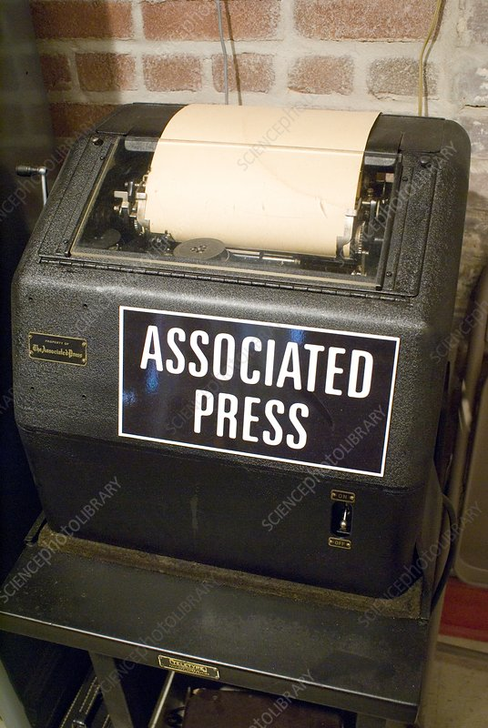 Associated Press teletype machine