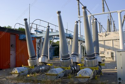 Insulators at electricity substation