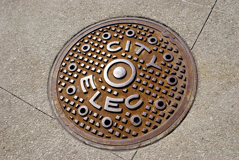 Manhole cover in Chicago