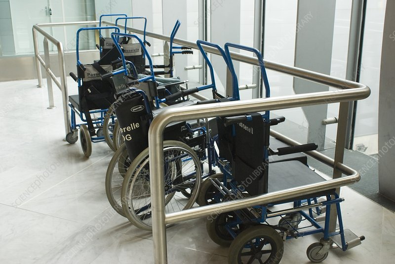 Wheelchairs at airport