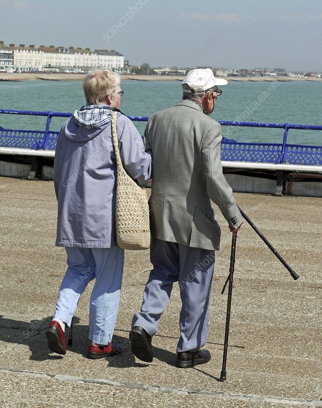 Elderly couple at the seaside