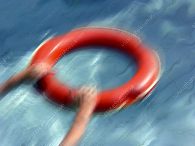 Lifebuoy in a swimming pool