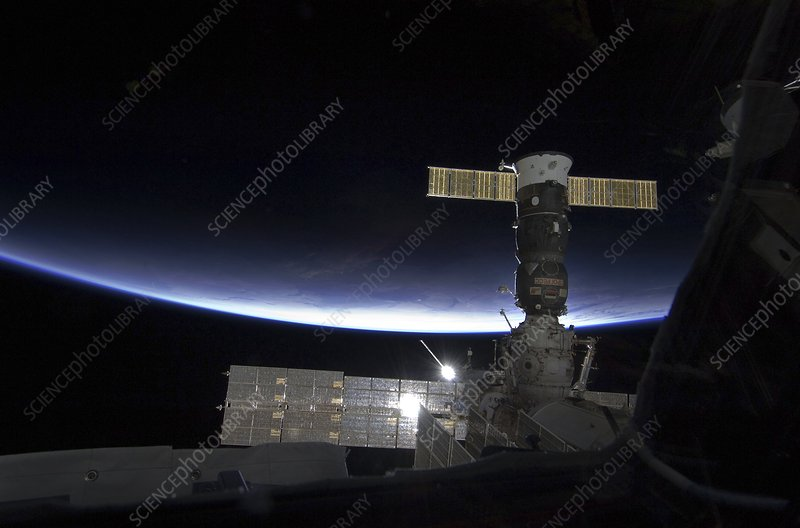 Sunrise over the ISS