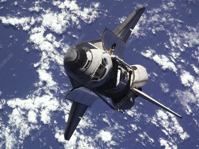 Endeavour approaching the ISS, 2010