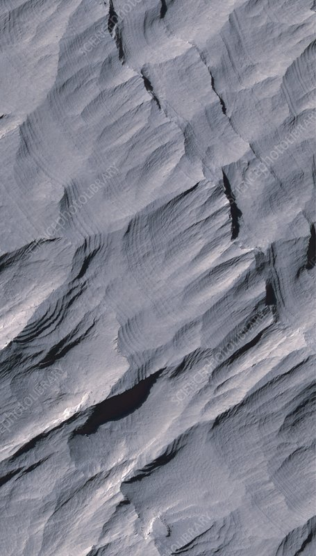 Gale Crater, Mars, satellite image