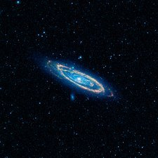 Andromeda Galaxy, space telescope image