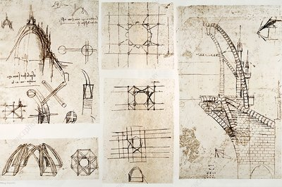 Leonardo's designs for Milan Cathedral