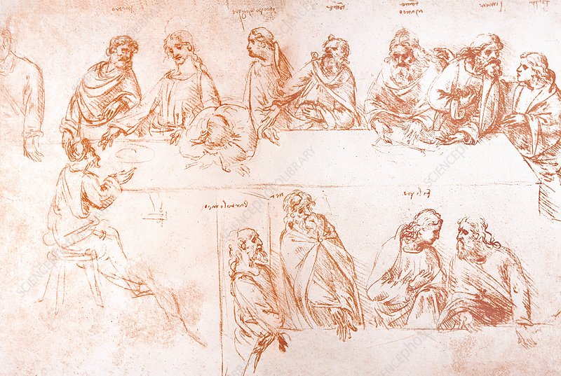 Sketch for the Last Supper