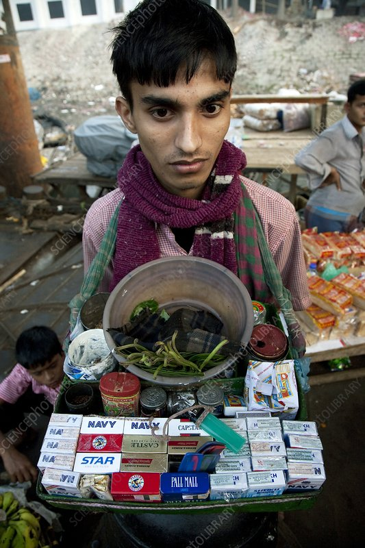 Vendor at Buriganga River, Bangladesh