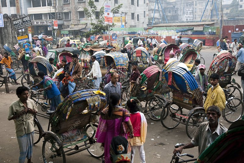 Rickshaws, Bangladesh