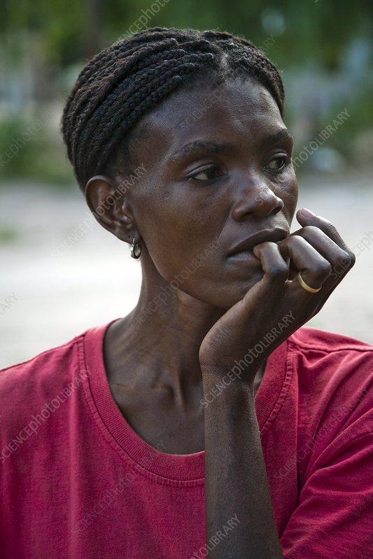 HIV positive woman, Botswana