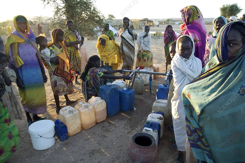 Refugee camp, Chad
