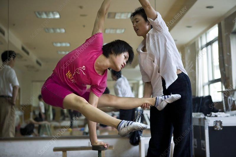Acrobat practice, China