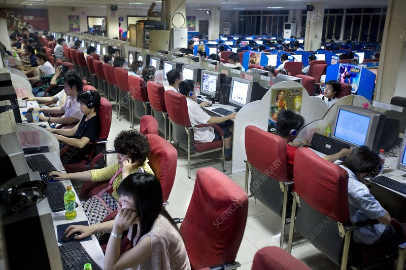 Internet cafe, China