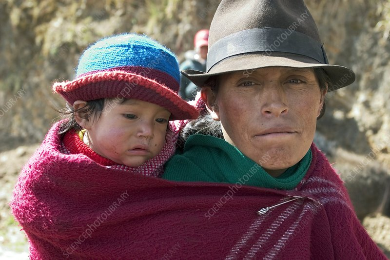 Andean mother and child, Ecuador