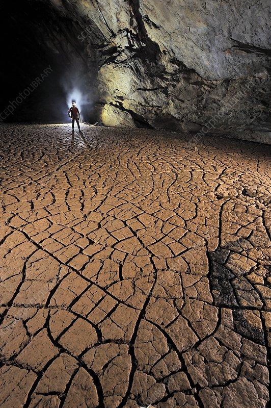 Cave mud floor, Borneo