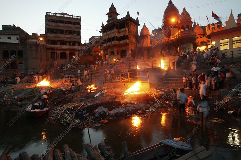 Cremation site, Ganges, India