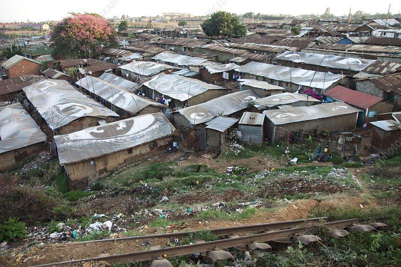 Slum settlement, Kenya