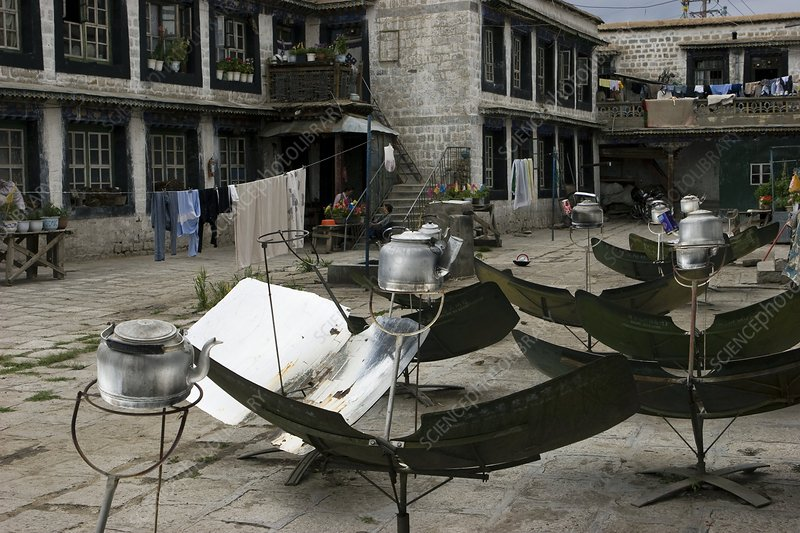 Solar water heaters, Tibet