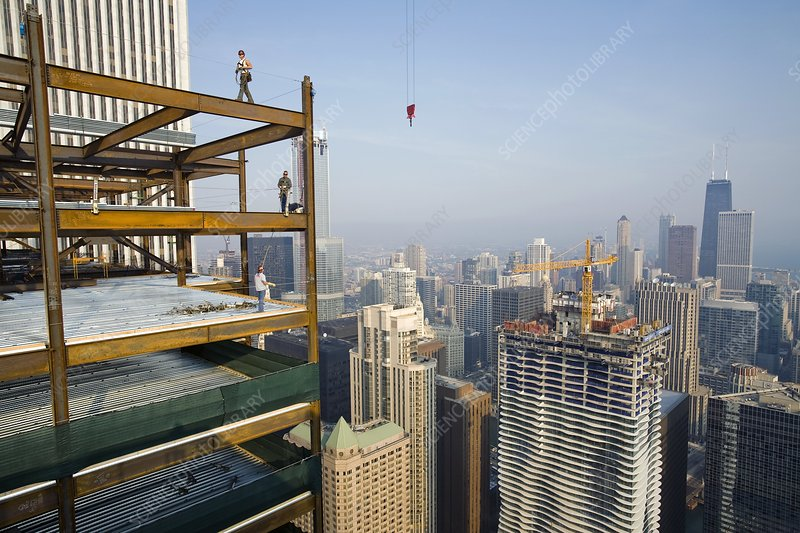 Highrise construction, USA